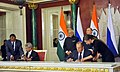 The Prime Minister, Shri Narendra Modi and the President of Russian Federation, Mr. Vladimir Putin witnessing the signing of agreements, at Moscow, in Russia on December 24, 2015 (3).jpg
