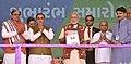 The Prime Minister, Shri Narendra Modi releasing booklet to mark the launch of Kankrej breed improvement programme, in Palanpur, Banaskantha, Gujarat.jpg