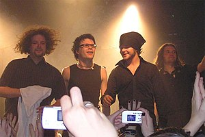 The Rasmus - From left to right: Rantasalmi, Hakala, Ylönen and Heinonen
