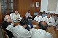 The Speaker, Lok Sabha, Shri Somnath Chatterjee chairing the all party leaders meeting at Parliament House, in New Delhi on October 17, 2008.jpg