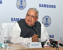 The Union Minister for Micro, Small and Medium Enterprises, Shri Kalraj Mishra addressing at the MSME-Samsung Technical School MoU signing ceremony, in New Delhi on June 02, 2017.jpg