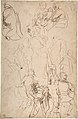 The Virgin Adored by Saints (recto); Study of the Torso Belvedere (verso) MET DP802754.jpg