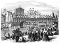 The Visit of King Victor Emmanuel to Venice, Decorated Bridge over the Grand Canal - ILN 1866.jpg