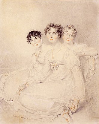William Wellesley-Pole, 3rd Earl of Mornington - The Wellesley-Pole sisters, by Thomas Lawrence (1769-1830). From left to right: Lady Mary Charlotte Anne, Lady Emily Harriet and  Lady Priscilla Anne
