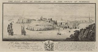The east view of Tenby Castle: in the county of Pembroke
