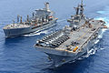 The fleet replenishment oiler USNS Laramie (T-AO 203), left, conducts a replenishment at sea with the amphibious assault ship USS Kearsarge (LHD 3) in the Red Sea May 22, 2013 130522-N-NB538-517.jpg