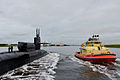 The guided missile submarine USS Georgia (SSGN 729) returns from a 17-month deployment to Naval Submarine Base Kings Bay, Ga., Sept. 29, 2014 140929-N-QO773-049.jpg