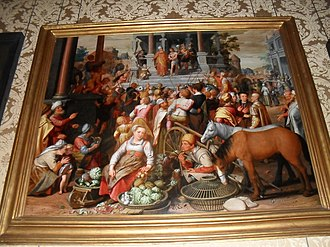Bijbels Museum - Image: The ministry of John the Baptist on the display in Bijbels Museum Amsterdam