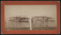 "The steamboat ""City of Hartford"" after a collision with a bridge, by George W. Hennigar.png"