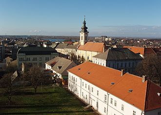 Sremska Mitrovica - Panoramic view over centre of Sremska Mitrovica