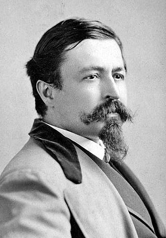 Thomas Nast - Photograph of Nast by Napoleon Sarony, taken in Union Square, New York City