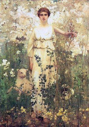 Thomas Millie Dow - Thomas Millie Dow: Spring (1886)