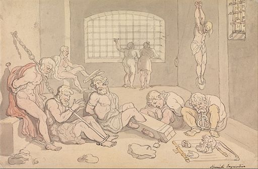 Thomas Rowlandson - Spanish Inquisition - Google Art Project