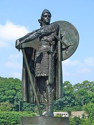 Skræling - Statue of Thorfinn Karlsefni by Einar Jónsson in Philadelphia