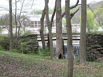 Tibbetts Brook - A waterfall in Tibbetts Brook Park