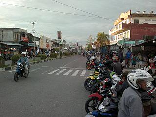 Timika Town in Papua, Indonesia