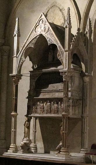Marie of Valois, Duchess of Calabria - Tomb of Maria of Valois in Santa Chiara (Naples).
