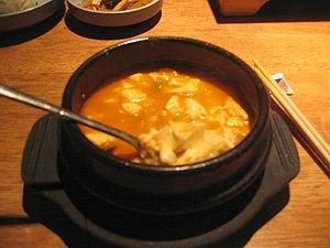Tofu soup.
