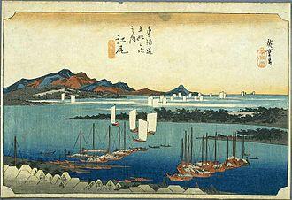 Ejiri-juku - Ejiri-juku in the 1830s, as depicted by Hiroshige in The Fifty-three Stations of the Tōkaidō
