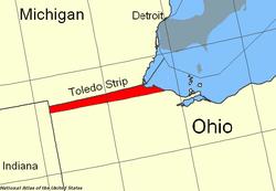 Localización de la Franja de Toledo.