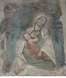 Affresco trecentesco di Tommaso da Modena in Sant'Agostino