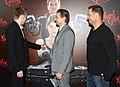 Tommy Wirkola, Jeremy Renner, Kevin Messick (8426806442).jpg
