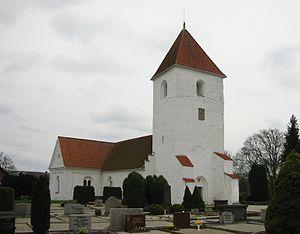 Hällestad Runestones - Hällestad Church where the runestones are located