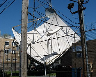 Cable television headend - Satellite antennas for the South Brooklyn headend of Charter Communications (formerly Time Warner Cable)