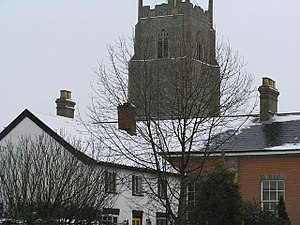 Stradbroke - Image: Tower of All Saints' Church, Stradbroke, Suffolk