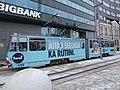 Tram 155 near Paberi Stop in Tallinn 22 January 2015.JPG
