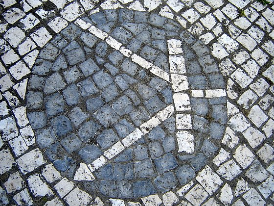 Transistor symbol created on Portuguese pavement in the University of Aveiro. Transistor on portuguese pavement.jpg