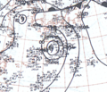 Tropical Storm Doris September 8, 1966 surface analysis.png