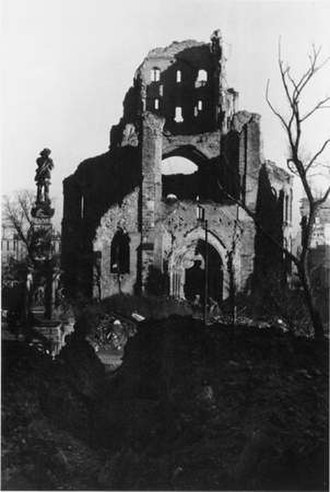 Great St. Martin Church, Cologne - Great St. Martin in 1946.