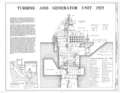 Turbine and Generator Unit 1925 - Wilson Dam and Hydroelectric Plant, Turbine and Generator Unit, Spanning Tennessee River at Wilson Dam Road (Route 133), Muscle HAER ALA,17-MUSHO,2A- (sheet 1 of 1).png