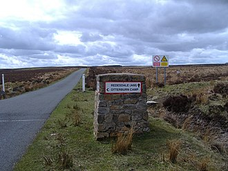 Otterburn Training Area - Image: Turn left here for Otterburn geograph.org.uk 158911