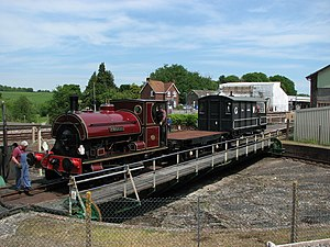 Yeovil Railway Centre - The turntable at Yeovil Junction station