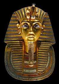 Máscara de Tutankamón en el Museo Egipcio de El Cairo