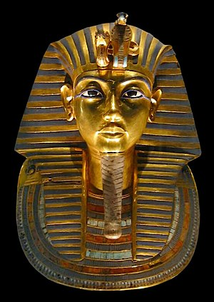 Exhibitions of artifacts from the tomb of Tutankhamun - The iconic burial mask of Tutankhamun was among the most popular pieces in the Treasures of Tutankhamun exhibition.
