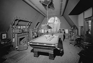Mark Twain House - The Billiards Room where Twain wrote