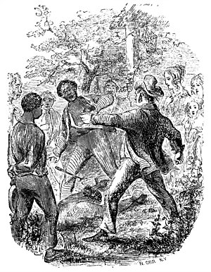 Patsey - sketch from Solomon Northup's book The staking out and flogging of the girl named Patsey