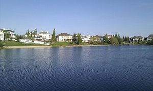 Twin Brooks, Edmonton - Artificial lake in Twin Brooks