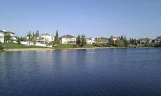 Twin Brooks, Edmonton - Artificial lake in Twin Brooks