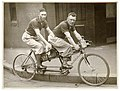 Two men in plus-fours on a tandem, by Sam Hood (5864591085).jpg