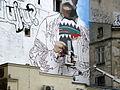 Tworzenie murala Łódź Kościuszki Struga 2010.jpg