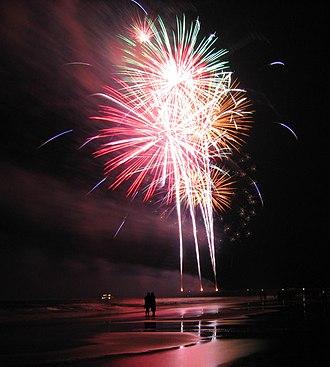 Tybee Island, Georgia - The Tybee Island pier's annual fireworks show
