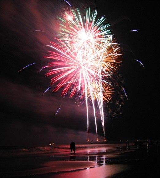 Tybee island georgia july 4 fireworks