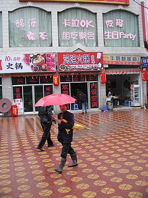 Dianjiang County - Typical retail street in Dianjiang