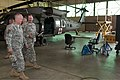 U.S. Army Aviation Center of Excellence and Fort Rucker, Ala., Commander Maj. Gen. Kevin Mangum visits with Lt. Col. William Braman, Commander, Charlie Company,3rd Battalion, 82nd Combat Aviation Brigade, in 130604-A-EM852-010.jpg