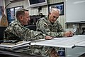 U.S. Army Lt. Gen. Bernard Champoux, left, the commanding general of the Eighth Army, briefs Chief of Staff of the Army Gen. Raymond T. Odierno at the Eighth Army headquarters in Seoul, South Korea, Feb. 24 140224-A-KH856-022.jpg