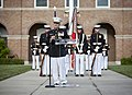 U.S. Marine Lt. Gen. George J. Flynn, Jr., speaks during his retirement ceremony at Marine Barracks Washington in Washington, D.C., May 9, 2013 130509-M-KS211-202.jpg